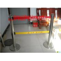 Quality Security Crowd Control Stanchions Queue Way Barriers Posts with one Belt for sale