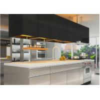 Best Assembled Stainless Steel Kitchen Cabinets , Contemporary Kitchen Cupboards wholesale