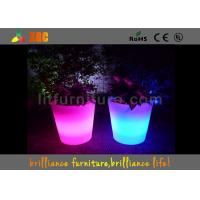 Quality Light Up Flower Vase Glow Planter LED Flower Pots With 16 Colors Changeable for sale