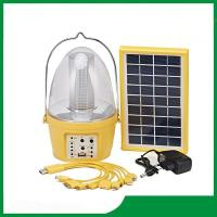 China High quality led camping solar lantern / solar led lantern with mobile phone charger and FM radio for hot selling on sale