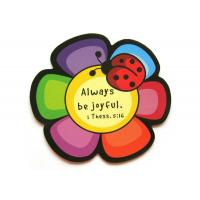 Quality 3D Flower Rubber Personalized Fridge Magnet with Offset Printing , ROHS for sale