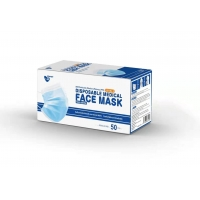 Quality Flat Pleated 3 Ply ASTM LEVEL 2 Disposable Mouth Mask for sale