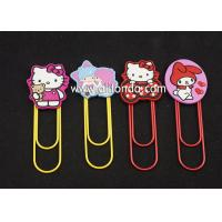 Quality Metal Cartoon stationery Accessories Marvel Bookmarks with Clips for paper files for sale