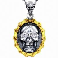 Buy cheap Unique Design Stainless Steel Skull Pendant, Handmade from wholesalers