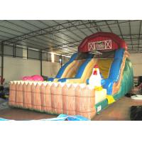 Quality Inflatable the farm themed standard dry slide top inflatable dry commercial slide for children under 15  years for sale