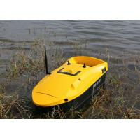 Quality Yellow rc fishing bait boat battery power type remote control RoHS Certification for sale