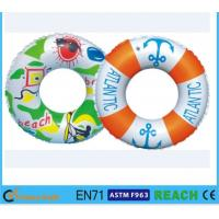 Quality Diameter 80cm Kids Swimming Ring , 100% Leak Proof Inflatable Pool Tubes And Rings for sale