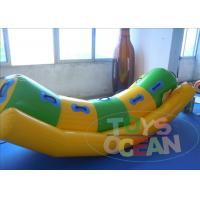 China 0.9mm Yellow PVC Inflatable Water Toys Totter Seesaws Toys For Aqua Play CE on sale