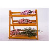 China Wood Decorative Outside Plant Shelves , 3 Tiered Flower Pot Stand Decorative Patio  Furniture on sale
