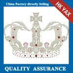 Quality D0929 Rhinestone Iron on Transfer Hotfix Motif design crystal crown Fashion Design for sale