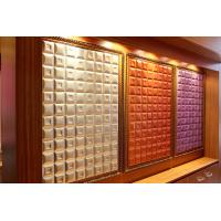 Quality Customized Hard Density Fiberboard Colorful Gemetric Patterns Leather Surface for sale