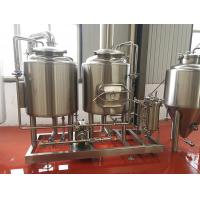 Buy cheap 300L Small brewery Equipment Steam / Gas Heated with 2 vessels brewhouse semi from wholesalers
