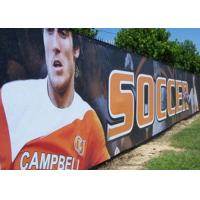 Buy cheap Anti Rusted Construction Fence Banners Backdrop 4 Sewing Lines Vivid Image from wholesalers