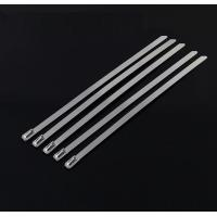 Quality 10 Mm Releasable Stainless Steel Cable Ties For Recycling Use , High Temp Resistance for sale