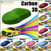 Quality 3D Carbon Fiber Vinyl Wrapping Film bubble free 1.52*30m/roll - Apple Green for sale