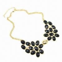 Buy cheap Fashionable Beaded Necklace, European Design, Various Colors are Available from wholesalers