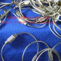 Quality stainless steel wire buckle key ring buckle steel wire rope for sale