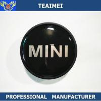 Quality 55MM Custom Mini Logo Alloy Car Wheel Center Caps / Chrome Car Logo for sale
