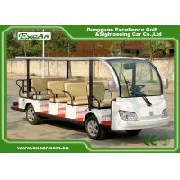 Quality 7.5KM Motor 72V 14 Seater Electric Sightseeing Bus / Tour Golf Cart for sale