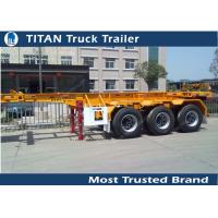 China 3 Axles 20 ft  Skeletal container semi trailer with 30 tons load capacity on sale