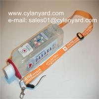 Best Polyester neck strap with PVC bottle holder tag, wholesale