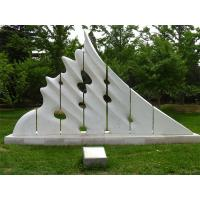 Quality White marble sculptures of Morden city for park for sale