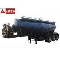 China Waterproof Dry Bulk Cargo Trailer , Dry Bulk Cement Trailers With Fluidized Belt on sale