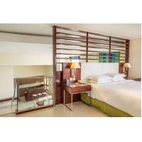 Quality Hotel style apartment interior furniture made by Laminate board for Wardrobe with minibar cabinets for sale