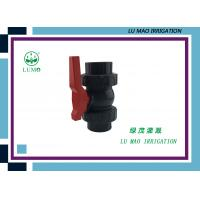 China High Pressure 2 Inch PVC Ball Valve / PVC True Union Ball Valve Flang Connection on sale