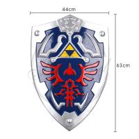Quality Decorative Link Hylian Resin Zelda Shield Full Size Blue Hand Painted for sale