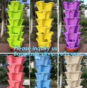 Quality strawberry vertical stackable planter plastic garden pots flower pot,PP material Mini plastic succulent pot for home gar for sale