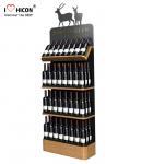 Quality Freestanding Custom Wooden Wine Display Rack For Liquor Store Advertising for sale
