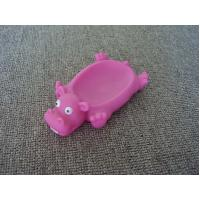 China Vinyl Hippo Rubber Bath Toys Plastic Soap Holder / Dish For Bathroom Decoration on sale