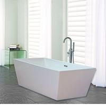 Quality Narrow Edge Portable Acrylic Freestanding Bathtub With End Drain Lightweight for sale