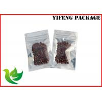 Quality Fresh style Laminated Foil  Zip lock Plastic Bags with clear window for tea or seed for sale