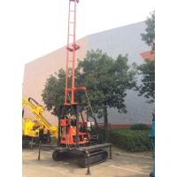 Quality Crawler Mounted Hydraulic Drilling Machine With Hydralic Winch , Mud Pump With 200m Drilling for sale