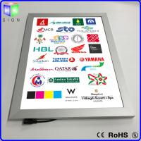 China Advertisement LED Slimline Light Box Snap Frame Wall Mounted 3D Laser Engraving on sale
