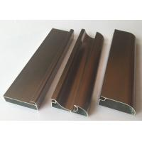 Quality Anti Rust Aluminum Cabinet Door Extrusion/ Frame Extrusions Coffee Color for sale