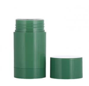 Quality 1oz 1.7oz 2.65oz Green Plastic Twist-up Refillable Deodorant Containers for sale