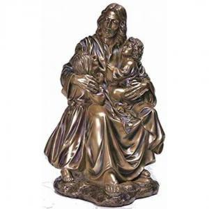 Quality Garden Metal sculpture Jesus & children bronze statues,customized bronze statues, China sculpture supplier for sale