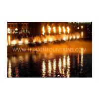Quality Large Scale Decorative Flaming Water Fountain Show With PC/PLC System for sale
