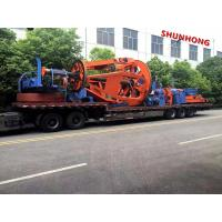 Quality Cantilever Back Twisting 1.25-1.6 M 3 Bobbin Cable Winding Machine 50RPM Pneumatic Brake for sale