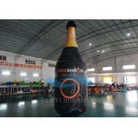 China Huge Inflatable Liquor Bottles PVC Tarpaulin Floating Bottle Display on sale