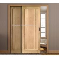 China Interior Oak Wooden Sliding Doors Painted Surface Maximum Height 2350mm Large Size on sale
