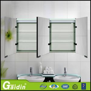 China aluminum bathroom mirror cabinet bathroom wall cabinet on sale