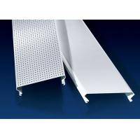 Quality C Shaped Linear Metal Strip Ceiling  , False Perforated Aluminium Strip for sale