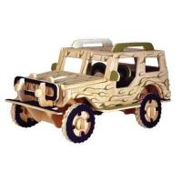 Quality Jeep DIY wooden toys vehicle for sale