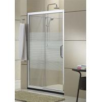 China Simple Design Glass Shower Screen Brushed Aluminum Alloy For House / Apartment on sale