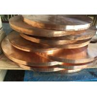 Quality Custom Thickness Copper Round Plate , Copper Sheet Plate Zinc Plating for sale