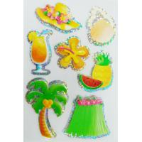 China 3D hologram stickers / Custom summer season style decals stickers on sale